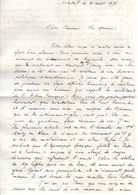 Lettre Manuscrite 1976 Simone Toret Malakoff Capitaine Marty Alsace Papa Vatican Mme Lefebvre Cote Azur Sarthe Poitou - Manuscrits