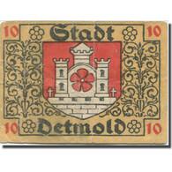 Billet, Allemagne, Detmold, 10 Pfennig, Château, 1920, TB, Mehl:268.1a - Duitsland