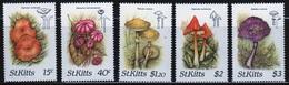 St Kitts 1987 Set Of Stamps Celebrating Fungi. - St.Kitts Y Nevis ( 1983-...)