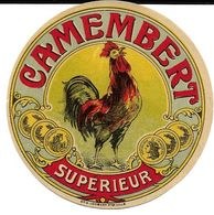 Camembert Supérieur Avec Coq Diamètre 8,5 Cm - Quesos