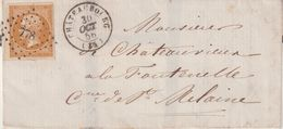 """FRANCE : N° 13 . OBL . PC 778 . """" CHATEAUBOURG """" . (34) . LST . 1856 . - Postmark Collection (Covers)"""