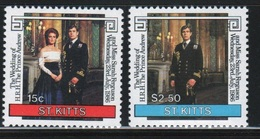 St Kitts 1986 Set Of Stamps Celebrating The Royal Wedding. - St.Kitts Y Nevis ( 1983-...)