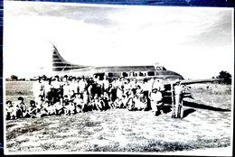 AVION TRANSPORTS PASSAGERS PHOTOGRAPHIE ORIGINALE 17 X 11 Cm 1949 AERONAUTIQUE AVIATION AEROPLANE - Luftfahrt