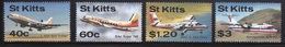 St Kitts 1987 Set Of Stamps Celebrating Aircraft Visiting St Kitts. - St.Kitts Y Nevis ( 1983-...)
