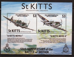 St Kitts 1990 Mini Sheet Celebrating The 50th Anniversary Of The Battle Of Britain. - St.Kitts Y Nevis ( 1983-...)