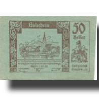 Billet, Autriche, Mautern, 50 Heller, Village 1920-04-02, SPL Mehl:FS 600IIc1 - Austria