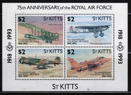 St Kitts 1993 Mini Sheet Celebrating The 75th Anniversary Of The Royal Air Force. - St.Kitts Y Nevis ( 1983-...)