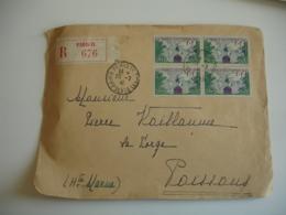 Bloc De 4  Yt 503  Pour France Putre Mer 1 Plus 1 Sur Recommande - 1921-1960: Modern Period