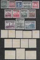 1939 Bohemia And Moravia Czechoslovakia Overprinted 12val Mi N.4-7,10-12,14,16-19 MH * - Bohême & Moravie