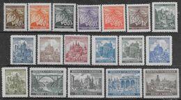 1940 Bohemia And Moravia Linden Branch And Landscapes 18val Mi N.38-41,55-57,59-61,64-67,69-72 MH * - Bohême & Moravie