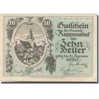 Billet, Autriche, Ruppersthal, 10 Heller, Eglise, 1920-12-31, SPL Mehl:FS 854a - Austria