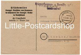 Ganzsache Hilfskomitee Evangel. Deutscher Aus Pommern Lippstadt 1949 Kriegsgefangenen- Und Vermißtensache OU Von Kleist - [7] Federal Republic