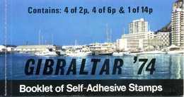 1974 GIBILTERRA LIBRETTO MNH ** 305/307 Perforati A Tratti - Gibraltar