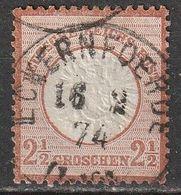 Allemagne N° 18 , 2 1/2 Groschen. Oblitération Eckernfoerde 16/02/1874 - Deutschland