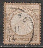 Allemagne N° 19 , 5 Groschen. Gros écusson - Oblitérés