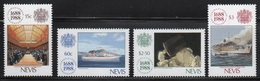 Nevis 1988 Set Of Stamps To Commemorate 300th Anniversary Of Lloyds Of London. - St.Kitts Y Nevis ( 1983-...)