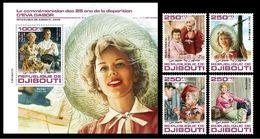 Djibouti. 2020 25th Memorial Anniversary Of Eva Gabor. (0207bc)  OFFICIAL ISSUE - Cinema