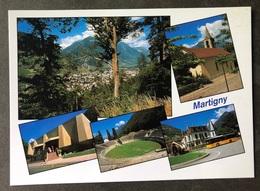 Martigny VS Mehransichten/ Postauto/ Moderne Karte - VS Valais
