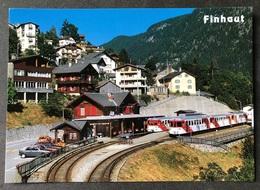 Finhaut VS Bahnhof Mit Montblancexpress/Autos - VS Valais