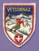 Ecusson Tissu - Suisse - Veysonnaz - Ski - Ecussons Tissu