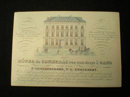 GAND/GENT - RUE AUX DRAPS - HOTEL DE COURTRAI - CARTE PORCELAINE 13 X 9 - Gent