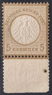 BRUSTSCHILD Nr.22 Sauber Postfrischer Prachtwert Vom Unterrand Mit Anlagepunkt (vorgefaltet!) Ohne Signatur! (bb20) - Gebruikt