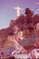 35mm DIAPOSITIVE SLIDE PHOTO 60s RIO DE JANEIRO BRAZIL BRASIL VOLKSWAGEN VW BEETLE TAXI A5 - Diapositivas