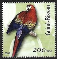 Guinea Bissau - MNH 2001 -     Scarlet Macaw   - Ara Macao - Pappagalli & Tropicali