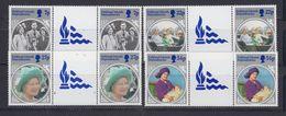 Falkland Islands Dependencies 1985  Life And Times Of The Queen Mother 4v Gutter   ** Mnh (48572) - Géorgie Du Sud