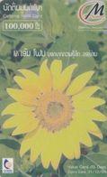 Laos, 3MP-010-B, 100.000 Kip, Flower, 2 Scans.   Plastic Card - Laos