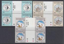 South Georgia 1987 IGY / Int. Geophysical Year 3v Gutter  (pair) ** Mnh (48573C) - Géorgie Du Sud