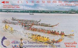 Laos, 1LAO-M-12, Boat Racing, Vientiane, 2 Scans. - Laos