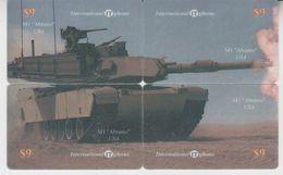 TANK M1 ABRAMS PUZZLE OF 4 PHONE CARDS - Armée