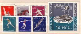 1968  OLYMPIC GAMES - MEXICO      6 V+ S/S - MNH  BULGARIA  / Bulgarie - Bulgarie