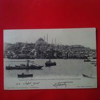 CONSTANTINOPLE STAMBOUL ET LA MOSQUEE SULEIMANIE VUE PRISE DE LA CORNE D OR - Turkije