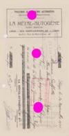 LIÈGE 1921 LA MÉTAL AUTOGÈNE Rue Saint Léonard & Rue Du Petit Chêne  Tôlerie & Soudure - Bills Of Exchange