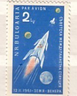 BULGARIA / Bulgarie   1961  SPACE - VENERA  1 V. - MNH - Bulgarie