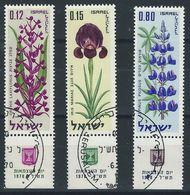 LL-/-854-- ISRAEL -  FLEURS  N° 407/09 + TAB,  OBL. , Cote 5.00 € , Liquidation - Usados (con Tab)