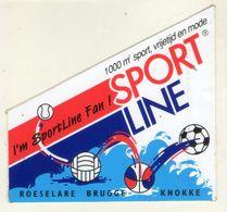 AUTOCOLLANT .  STICKER .  KNOKKE . ROESELARE . BRUGGE .SPORT  LINE . - Stickers