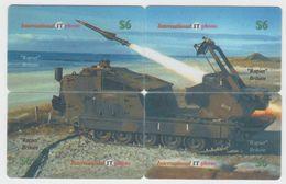 RAPIER MISSILE PUZZLE OF 4 PHONE CARDS - Armée
