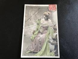 L'attente Du Bien Aimé - 1905 Timbrée - Siluette