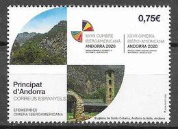 SPANISH ANDORRA, 2020, MNH, IBERO AMERICAN SUMMIT,MOUNTAINS, 1v - Other