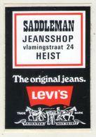 AUTOCOLLANT .  STICKER . SADDLEMAN . JEANSSHOP . VLAMINGSTRAAT 24 . HEIST . THE ORIGINAL JEANS . LEVI'S - Stickers