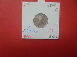 Léopold II. 5 Centimes 1900 FR TRES BELLE QUALITE (A.3) - 03. 5 Céntimos