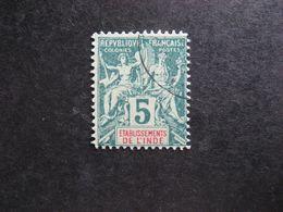 Inde:  TB N°4, Faux Fournier. Oblitéré . - India (1892-1954)