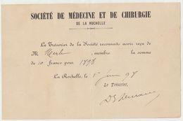 Charente, La Rochelle, Société De Médecine Et De Chirurgie  1898 - 1800 – 1899