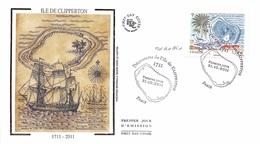 FRANCE. FDC. N°208032. 21/10/2011 .cachet Paris. Ile De Clipperton. Signé An Goffin - FDC