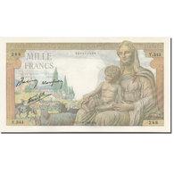 France, 1000 Francs, Déesse Déméter, 1942, 1942-06-11, SPL, Fayette:40.02 - 1 000 F 1942-1943 ''Déesse Déméter''