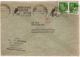 DE BRD Cover 1950 ... Ak802 With Cancel Munchner Elektromesse - [7] Federal Republic