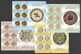 RM079 2007 ROMANIA ART CERAMICS POTTERY PLATES I MICHEL 25 EURO #6180-3 MNH - Other